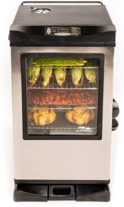Masterbuilt 20077515 Front Controller Electric Smoker with Window and RF Controller